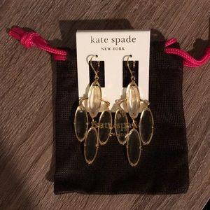 NEW Kate Spade Clear Stone Dangle Earrings